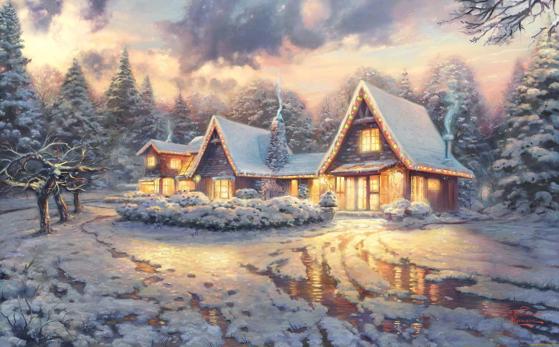 клиника зимние пейзажи для открыток геометрия широкий угол